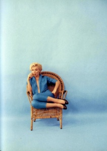 Marilyn Monroe in Blue